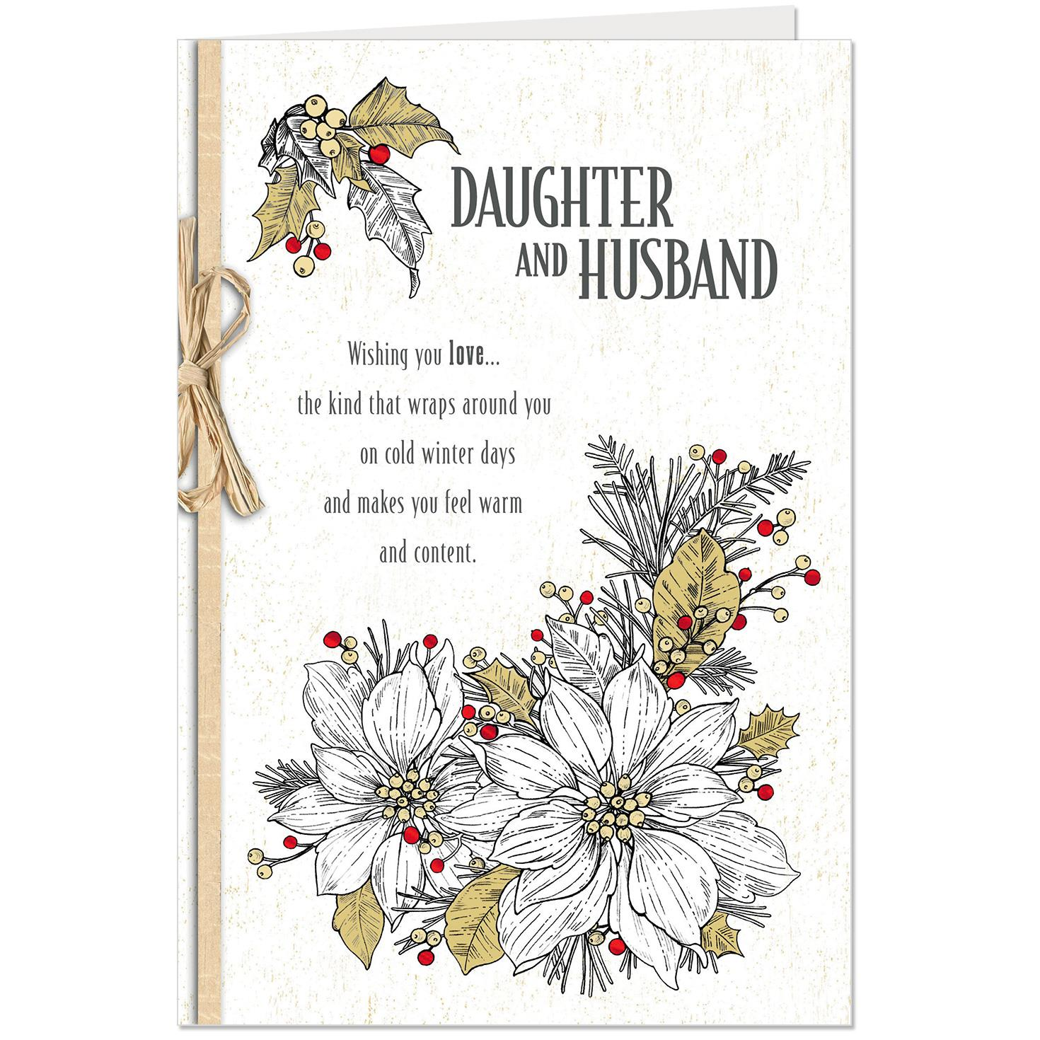 Wishing You Joy Christmas Card For Daughter And Her Husband