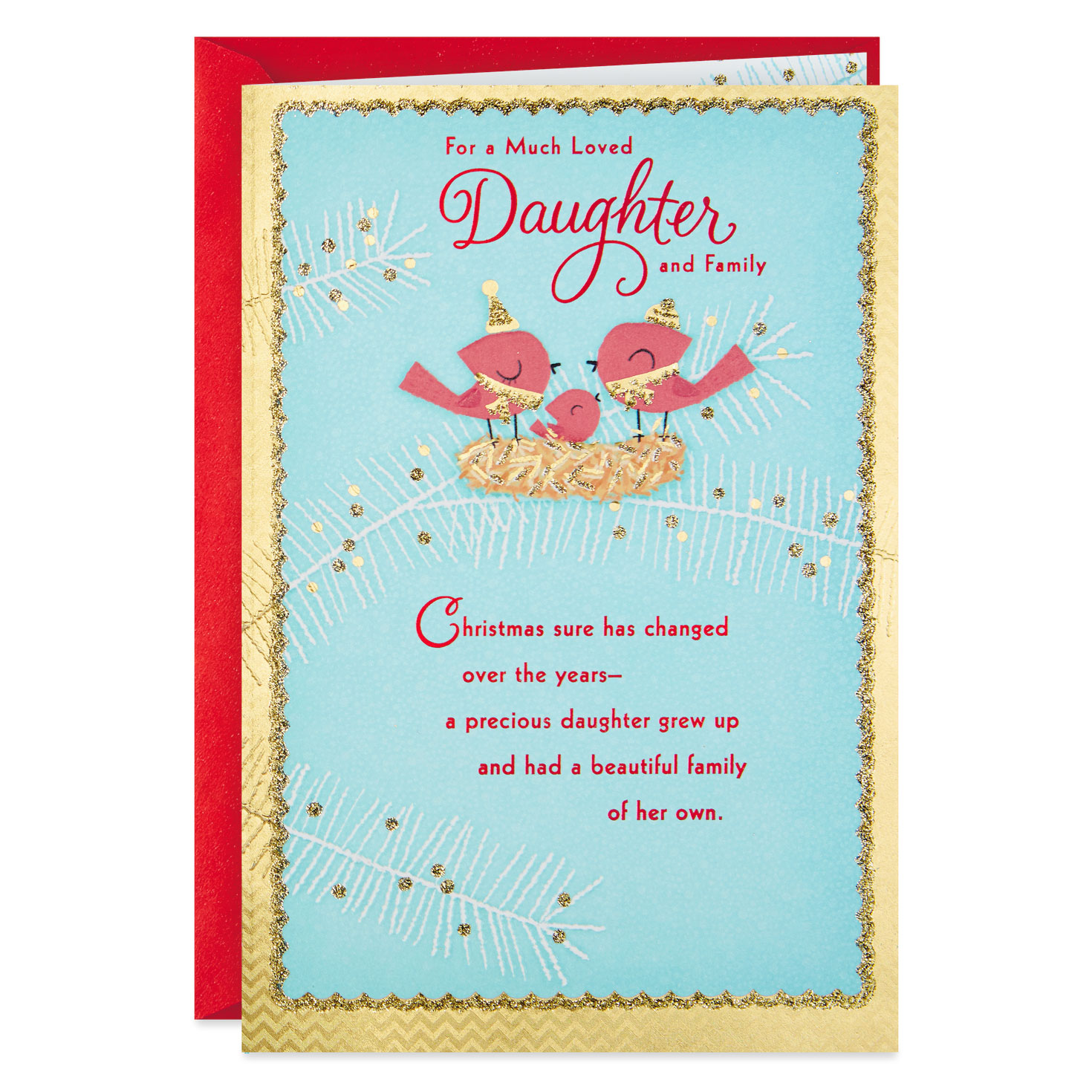 blessings of god religious christmas card for daughter and