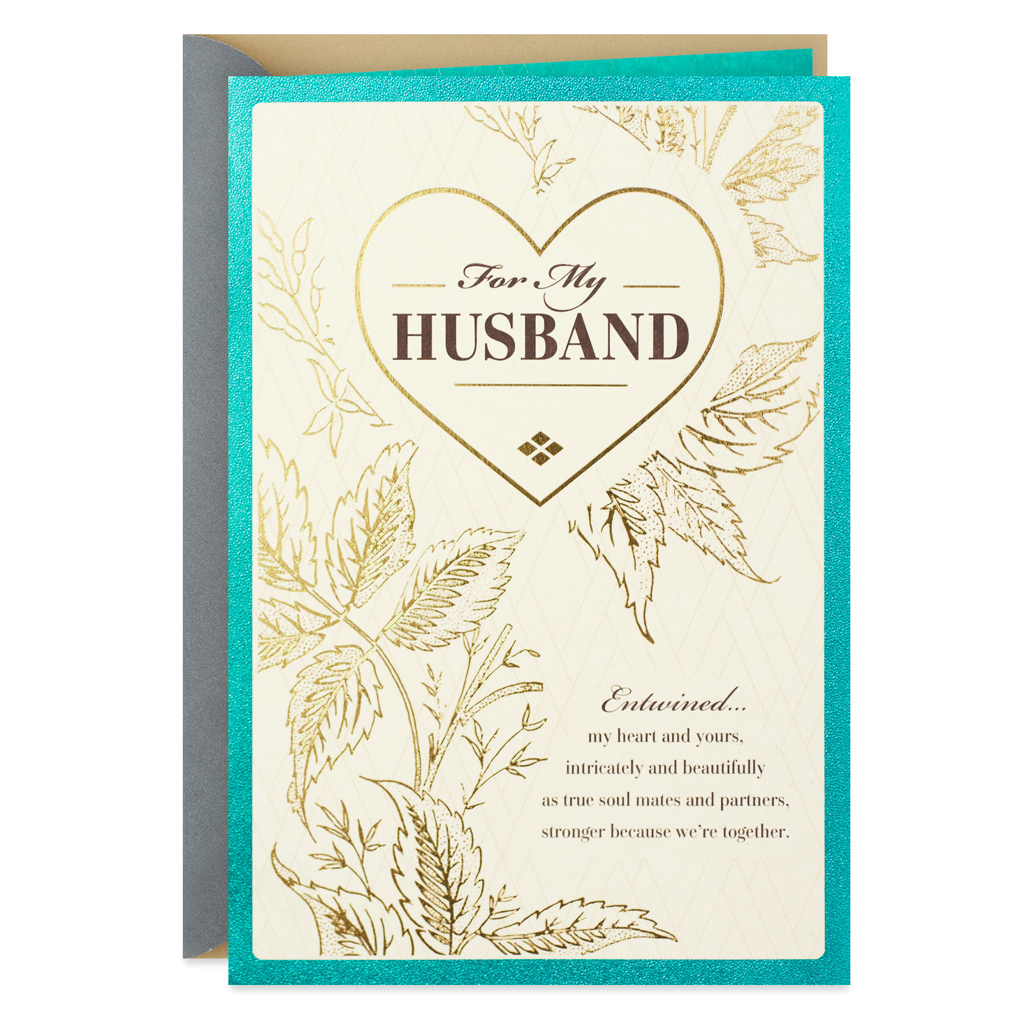 our hearts entwined birthday card for husband  greeting
