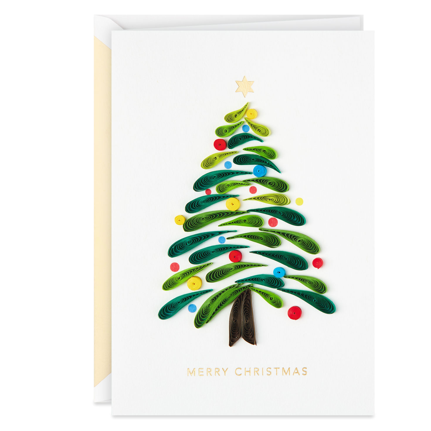 Christmas Tree Quilled Paper Handmade Christmas Card