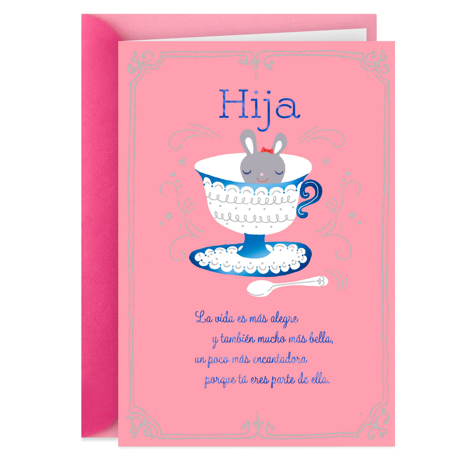 Extra Sweetness Spanish Language Birthday Card For Daughter