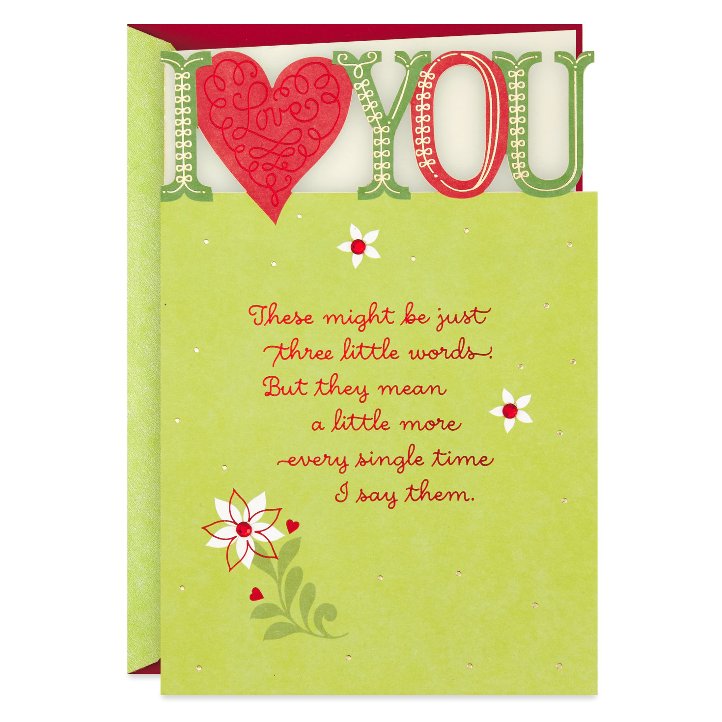 i love you romantic christmas card  greeting cards  hallmark