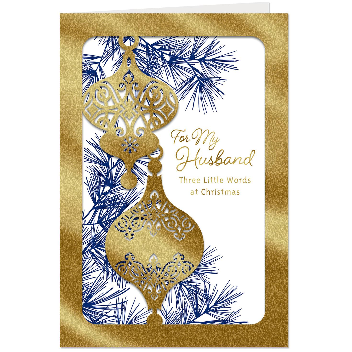 Elegant Ornaments Christmas Card For Husband