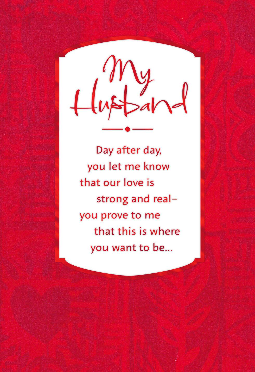 Our Sweet Love Valentine's Day Card for Husband - Greeting ...
