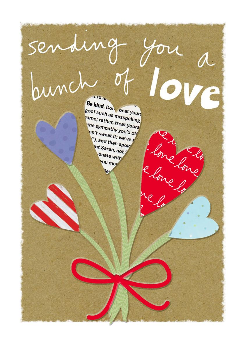A Bunch Of Love Thinking Of You Card Greeting Cards Hallmark