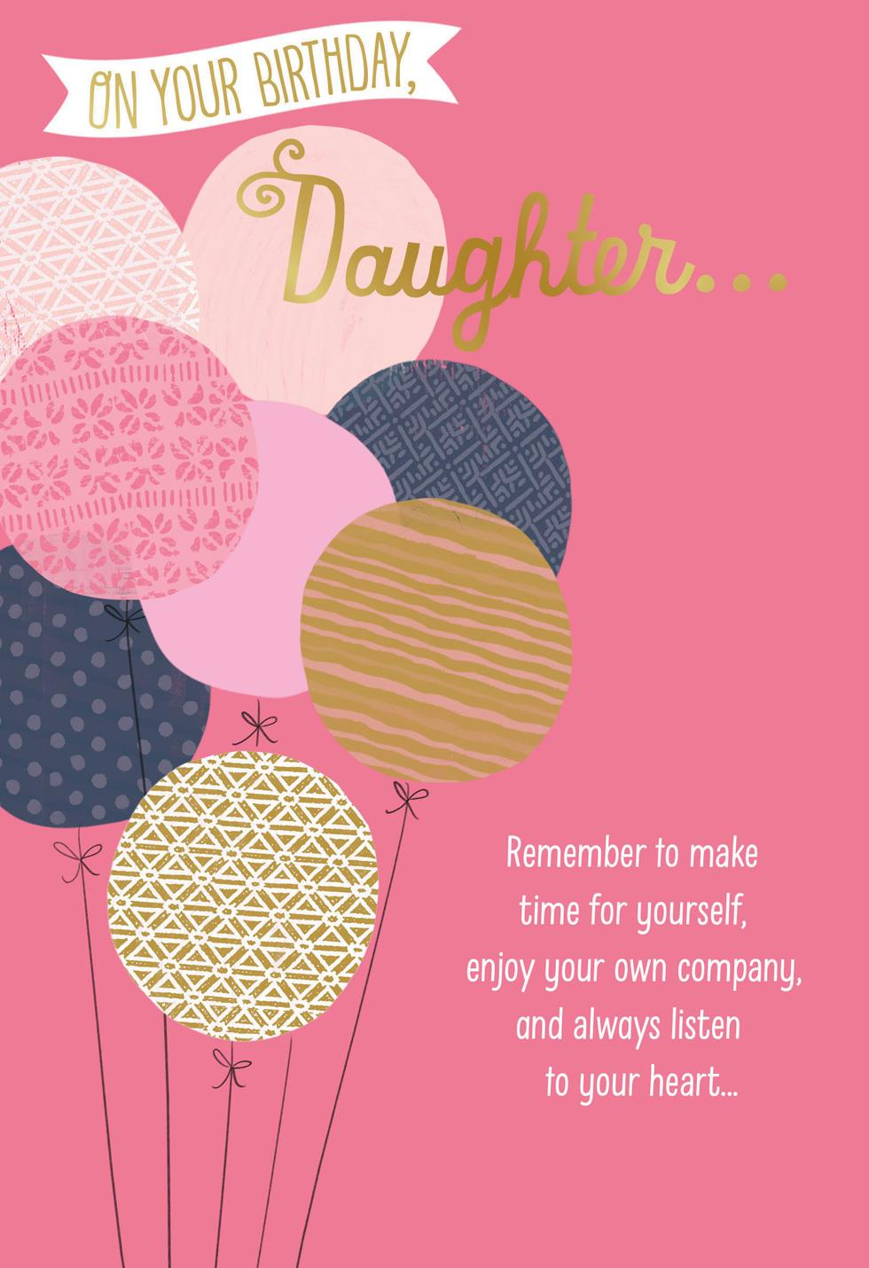 Bunch Of Balloons Birthday Card For Daughter Greeting Cards Hallmark