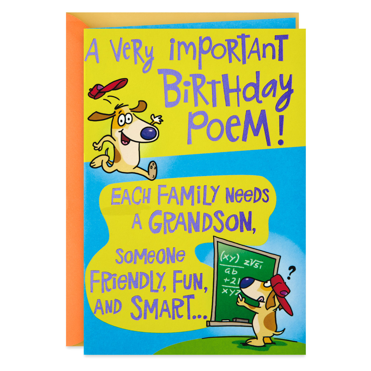 poem for a fun grandson birthday card  greeting cards