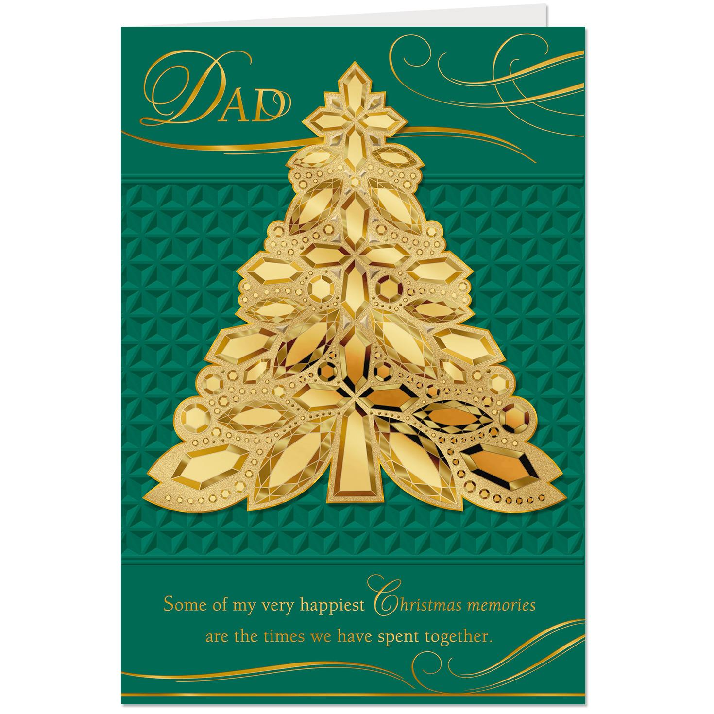 my happiest christmas memories christmas card for dad greeting cards hallmark