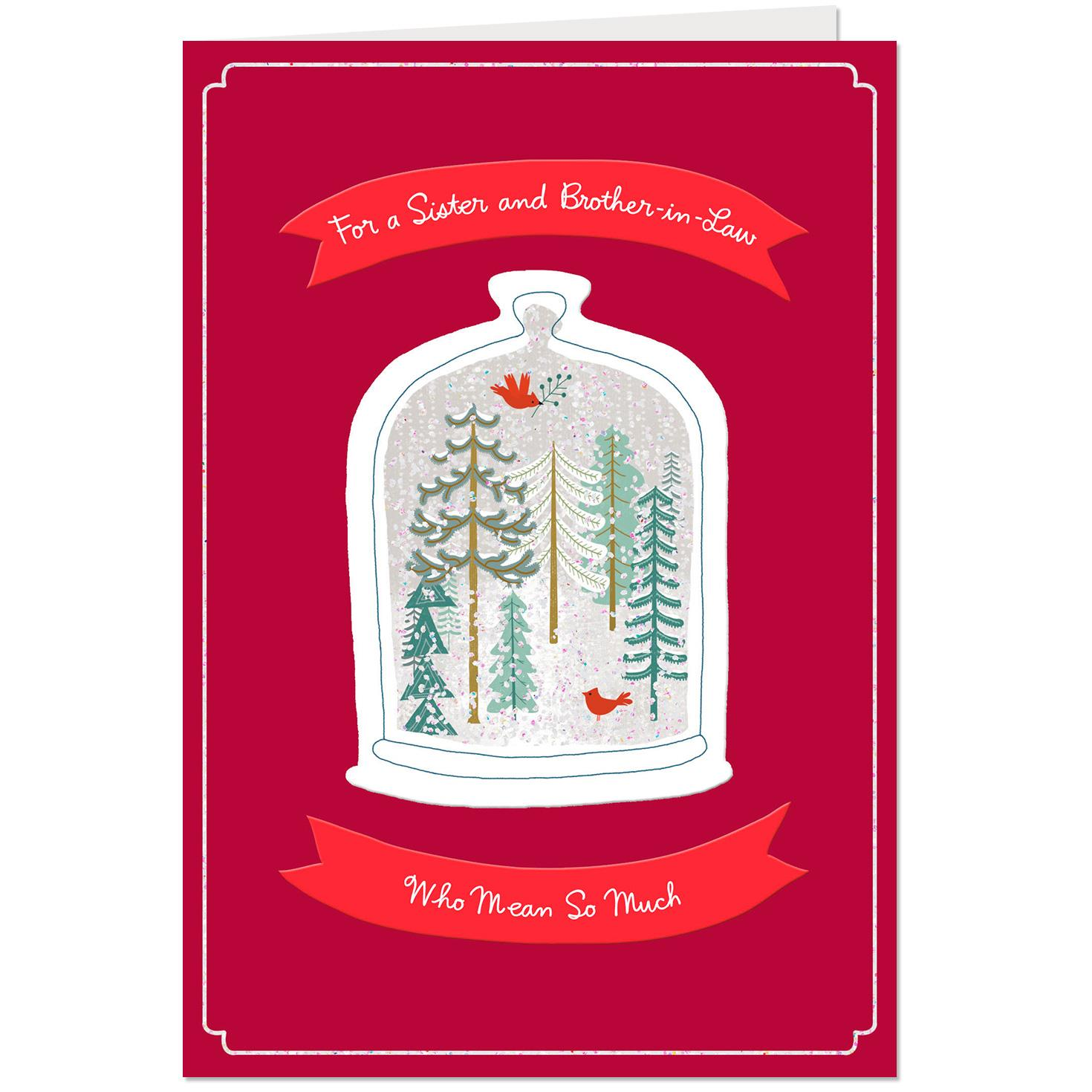 youre loved christmas card for sister and brother in law greeting cards hallmark