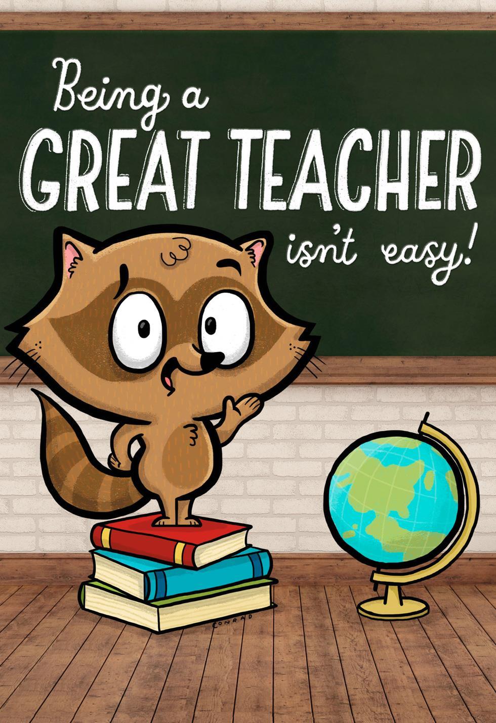 you make it look easy teacher appreciation card  greeting