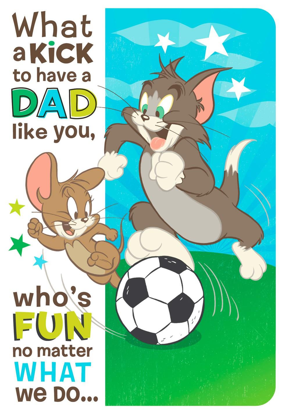 Fun With Tom And Jerry From Son Fathers Day Card Greeting Cards