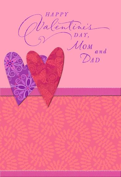 Warm And Happy Moments Valentine S Day Card For Parents