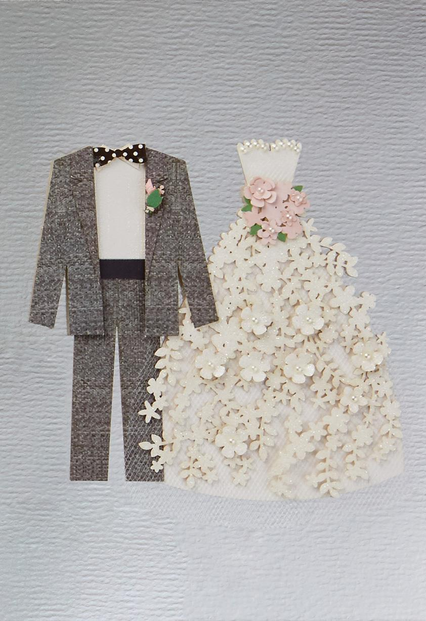 bride and groom wedding card - greeting cards