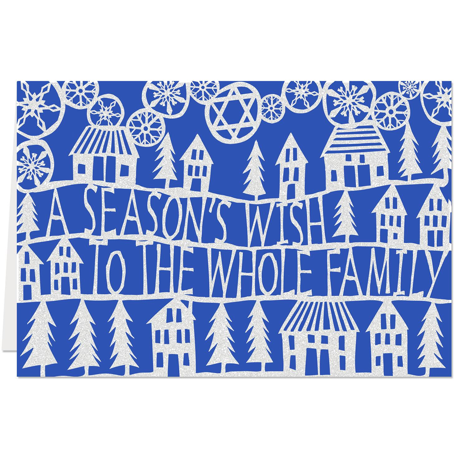A Seasons Wish To The Whole Family Christmas And Hanukkah Card