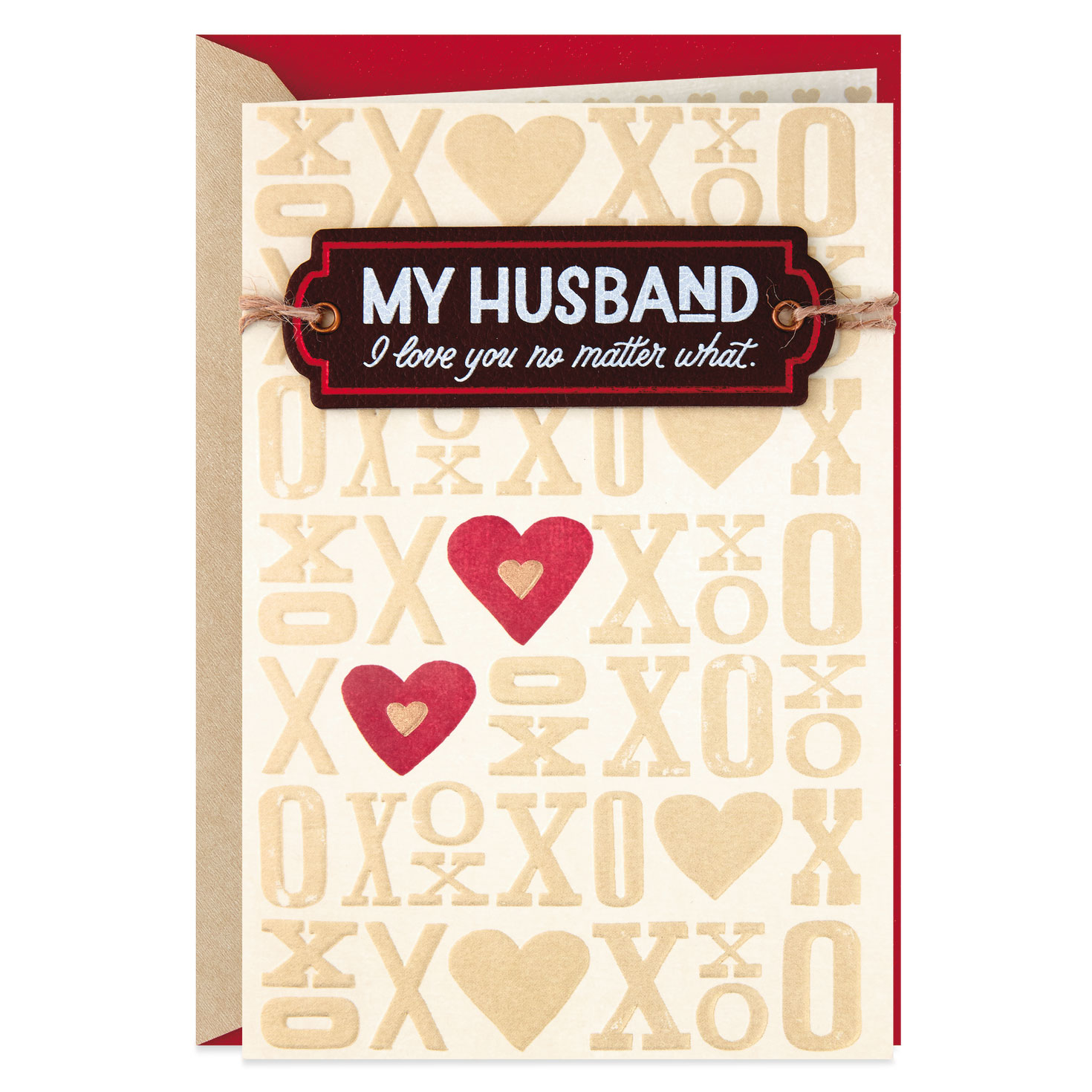 i love you no matter what valentine's day card for husband