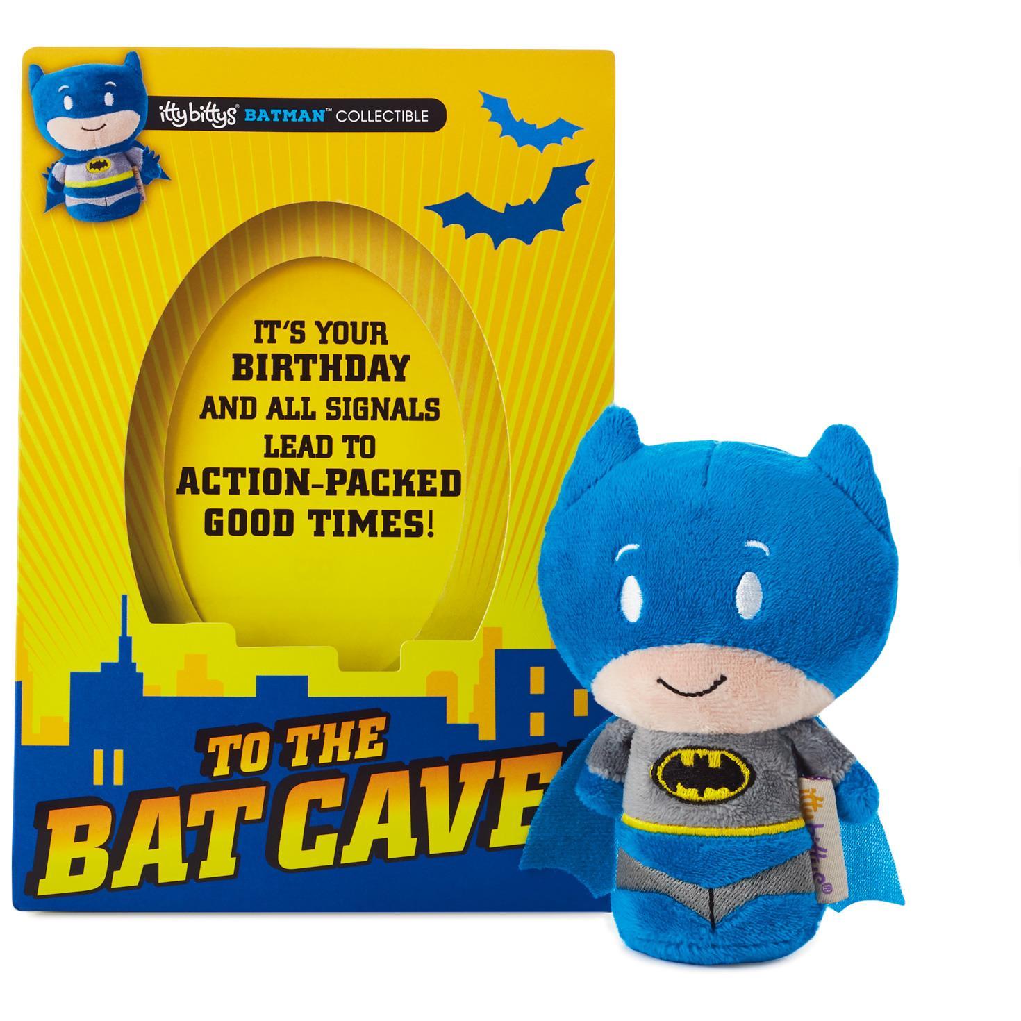 itty bittys Batman™ Birthday Card With Stuffed Animal Greeting