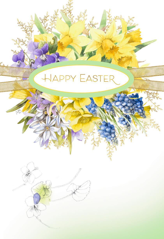 Marjolein bastin springtime flower bouquet easter card Hallmark flowers