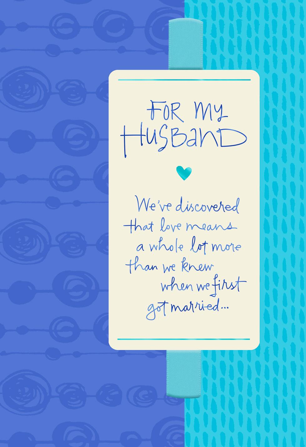 Weve Discovered What Love Means Fathers Day Card For Husband