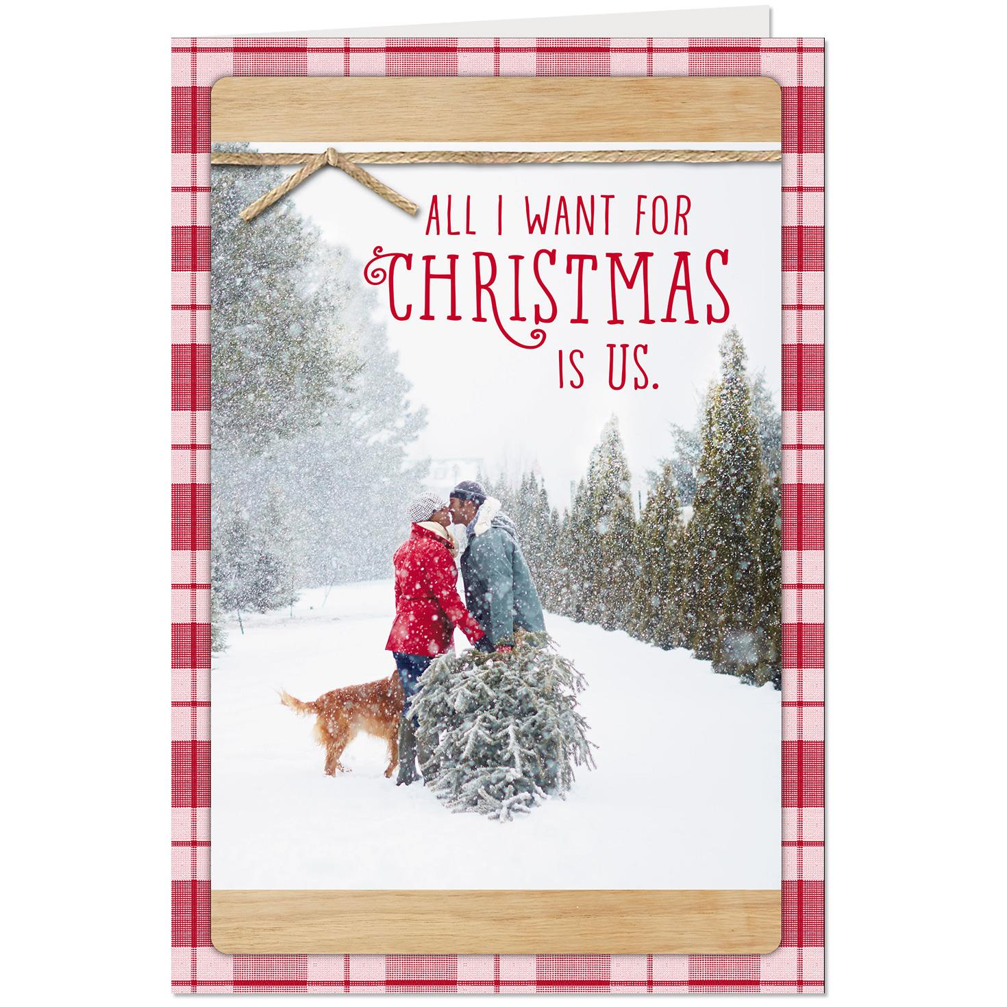 All i want is us romantic christmas card greeting cards hallmark all i want is us romantic christmas card m4hsunfo
