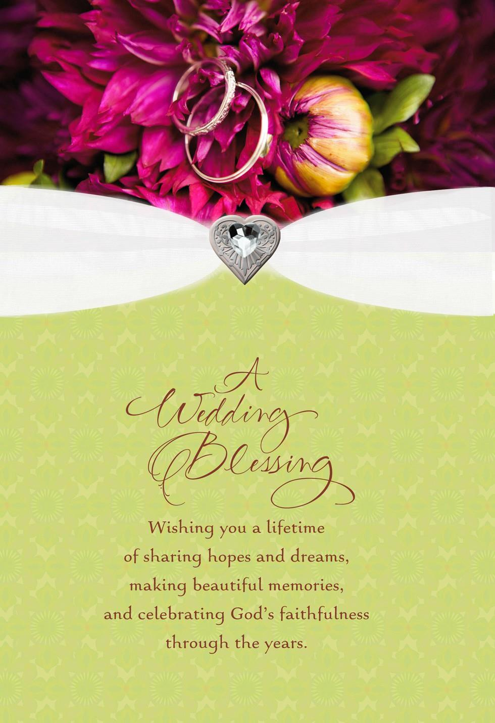 Wedding Blessing Religious Card