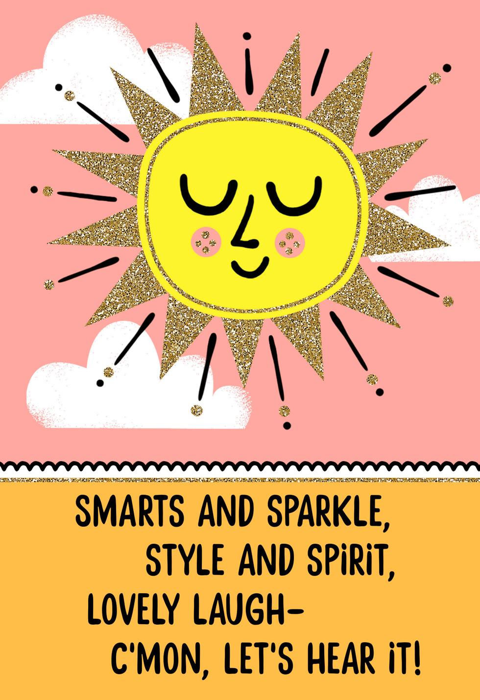 Sweet And Sunny Birthday Card For Girl Greeting Cards