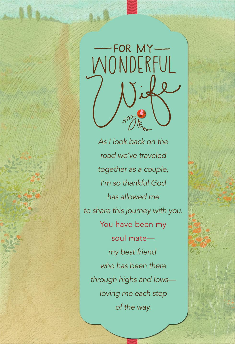 My soul mate religious mothers day card for wife greeting cards my soul mate religious mothers day card for wife kristyandbryce Images
