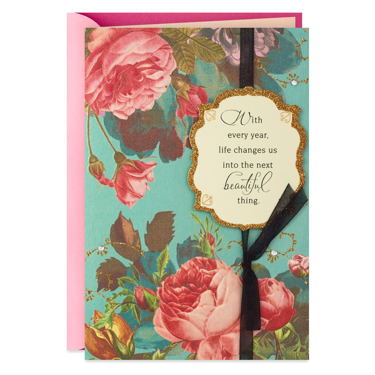 Floral Wedding Logo Collection: Beautiful Thing Vintage Floral Birthday Card