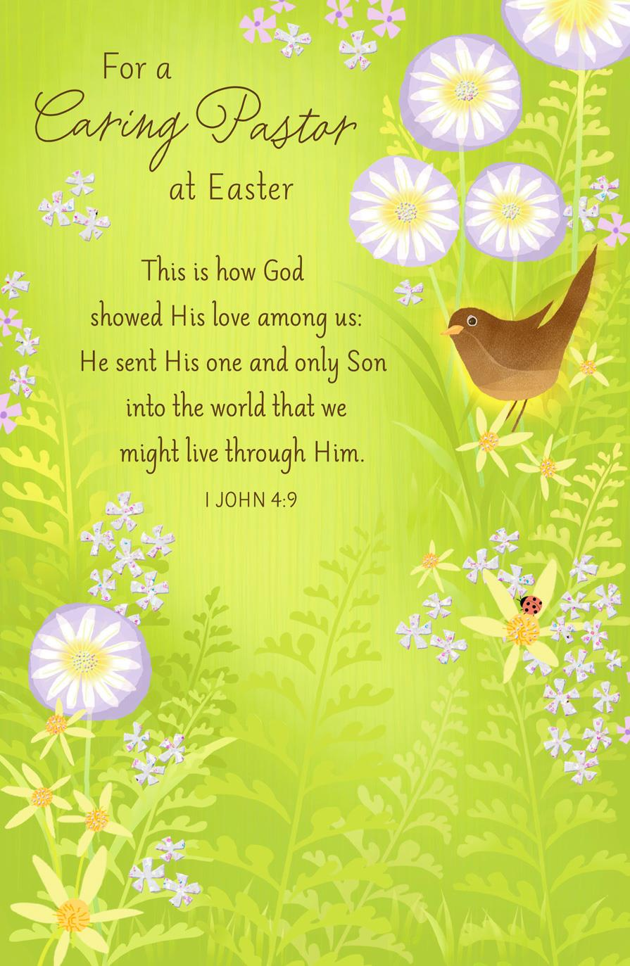 For a caring pastor religious easter card greeting cards hallmark for a caring pastor religious easter card kristyandbryce Images