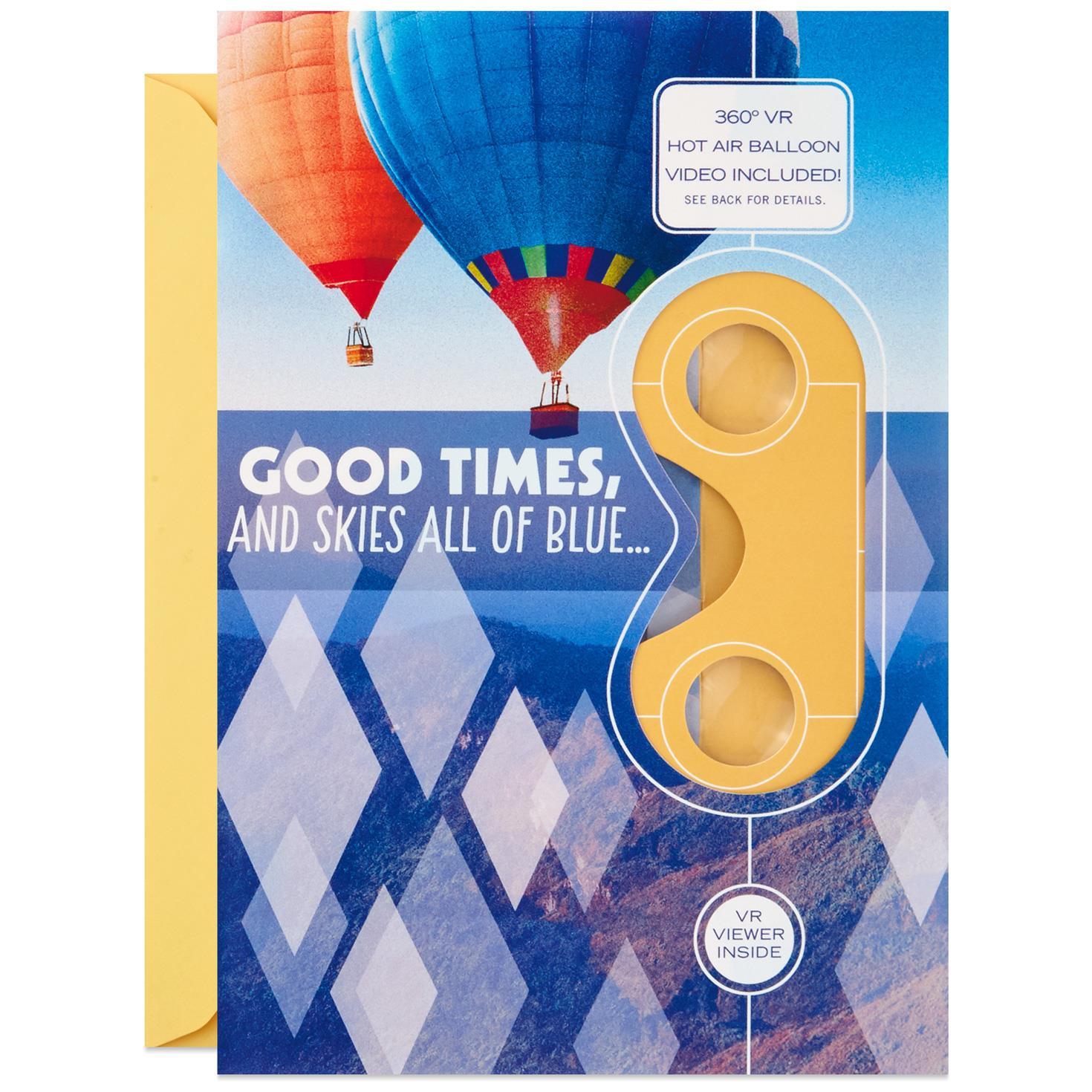 Good Times and Blue Skies Hot Air Balloon VR Birthday Card