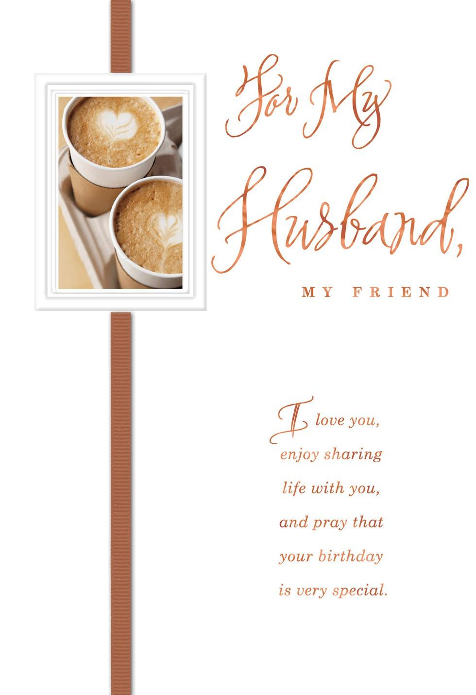 My Husband My Friend Religious Birthday Card Greeting Cards – Birthday Cards Religious
