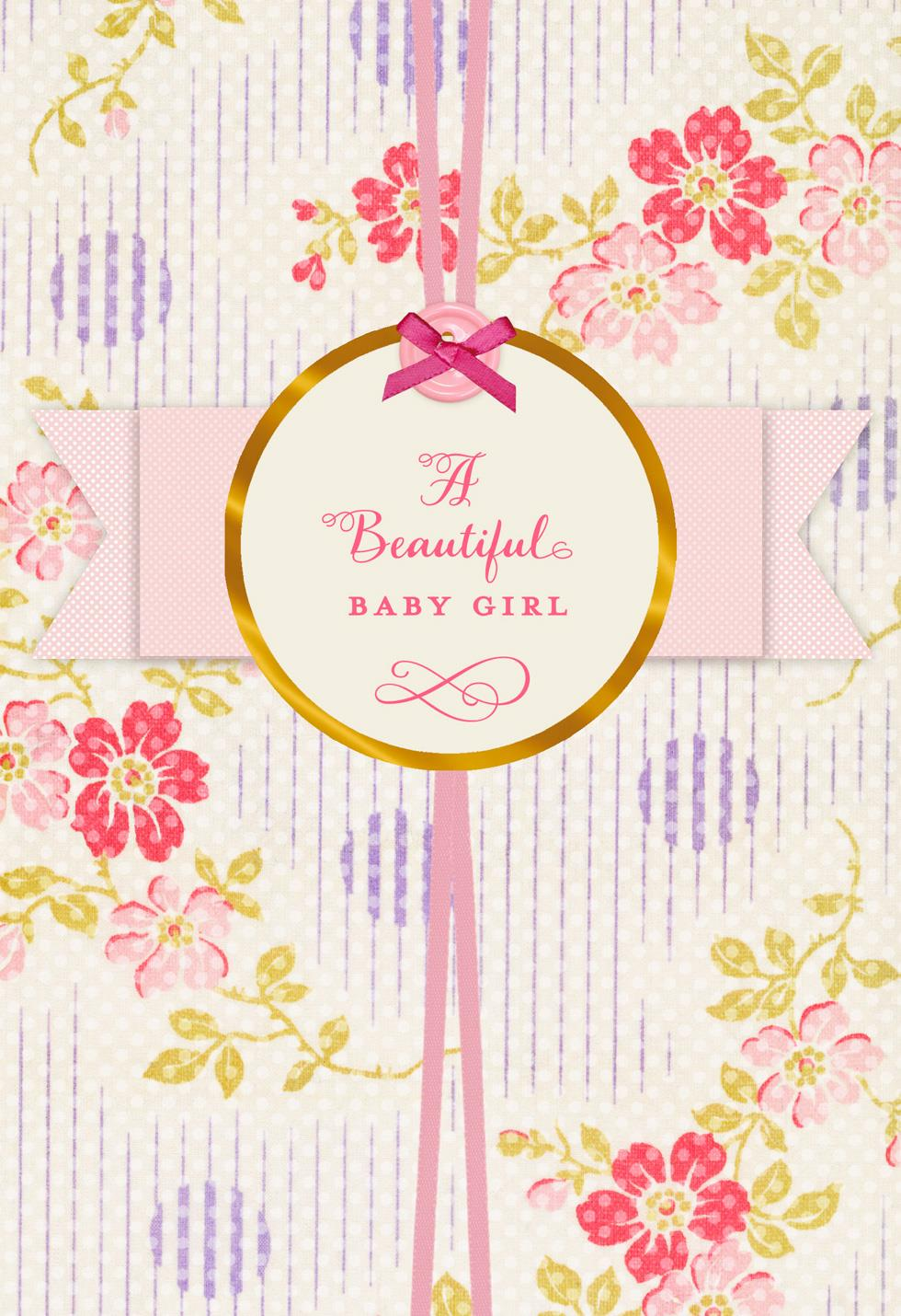 pink flowers new baby girl card  greeting cards  hallmark