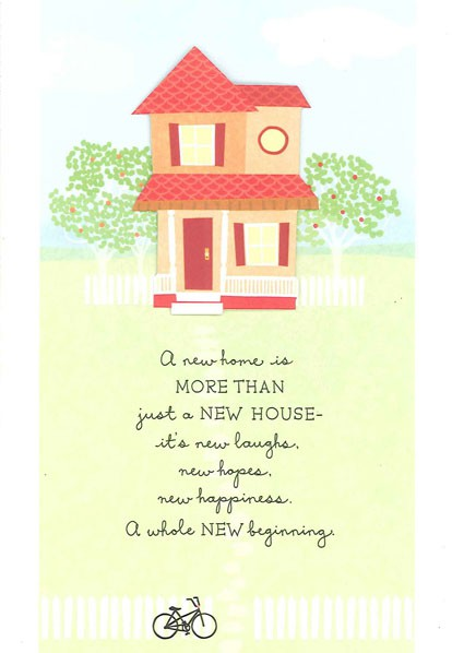 Hopes Happiness New Home Congratulations Card Greeting