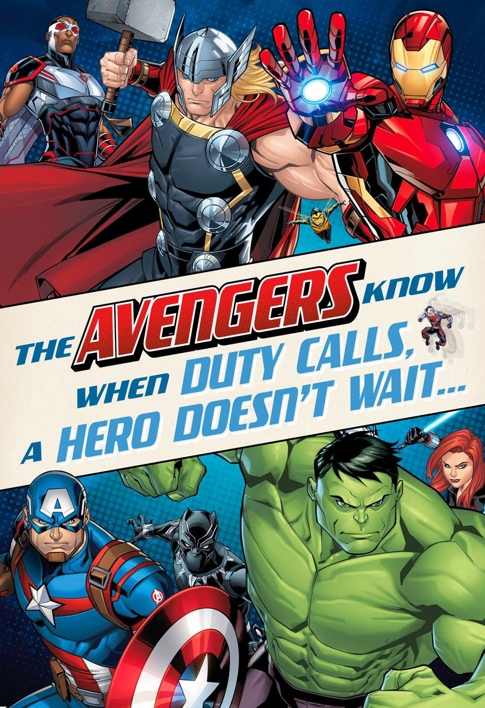 marvel avengers duty calls musical birthday card