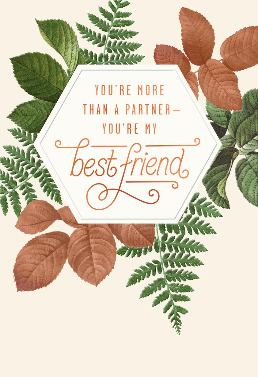 My Partner My Best Friend Anniversary Card For Him Greeting Cards