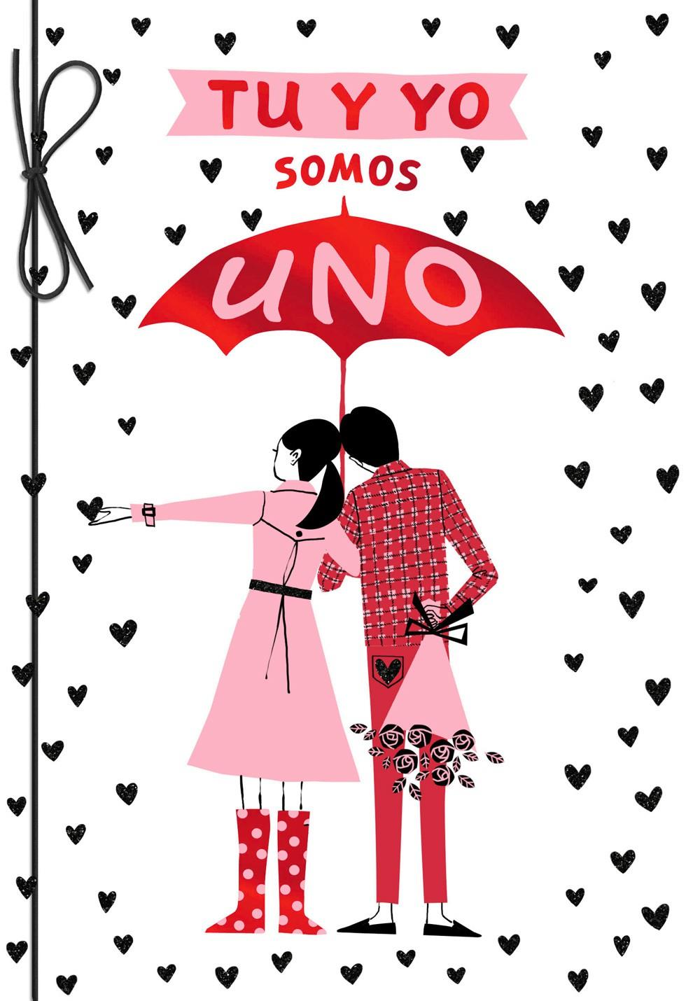 You and i are one spanish valentine s day card greeting cards