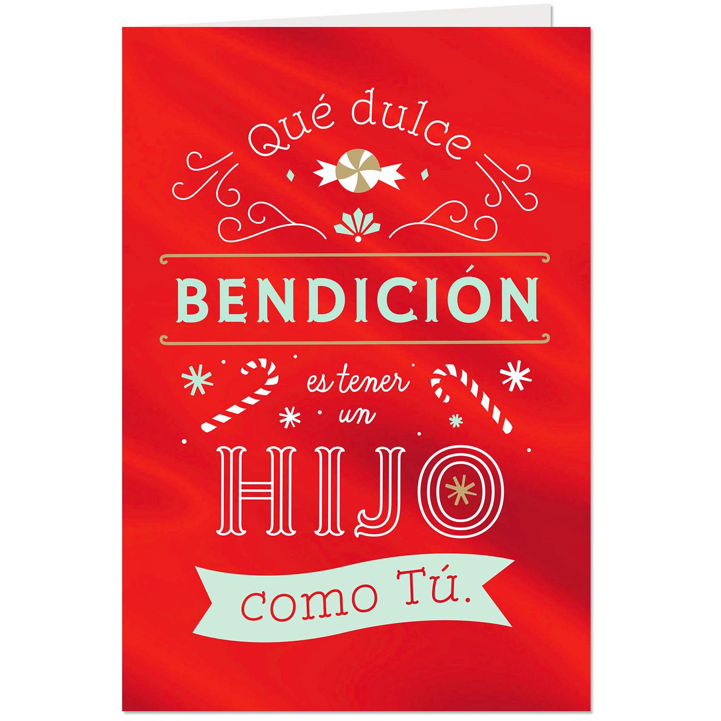 You Bring Smiles Spanish-Language Christmas Card for Son - Greeting ...