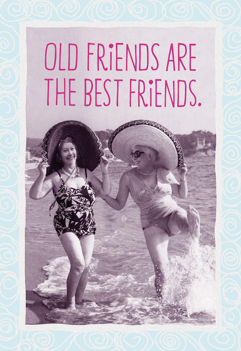 Old Friends Are the Best Friends Funny Birthday Card Greeting – Old Friend Birthday Card