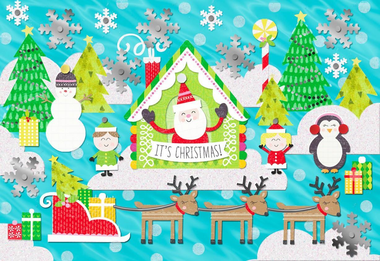 Winter Christmas Scene Christmas Card Greeting Cards