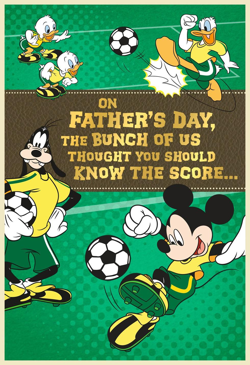 mickey mouse soccer field father u0027s day card from grandchildren