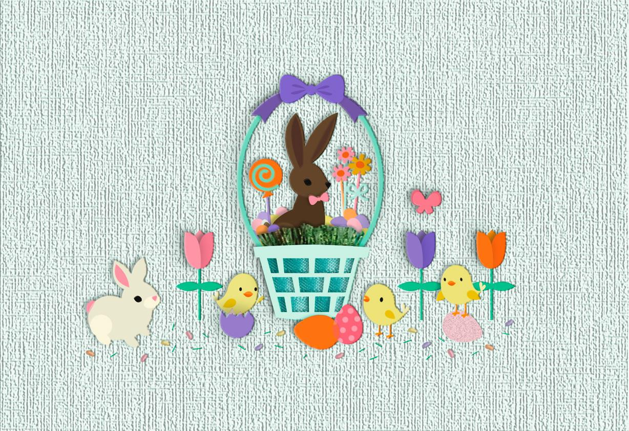 day full of goodies easter card - greeting cards