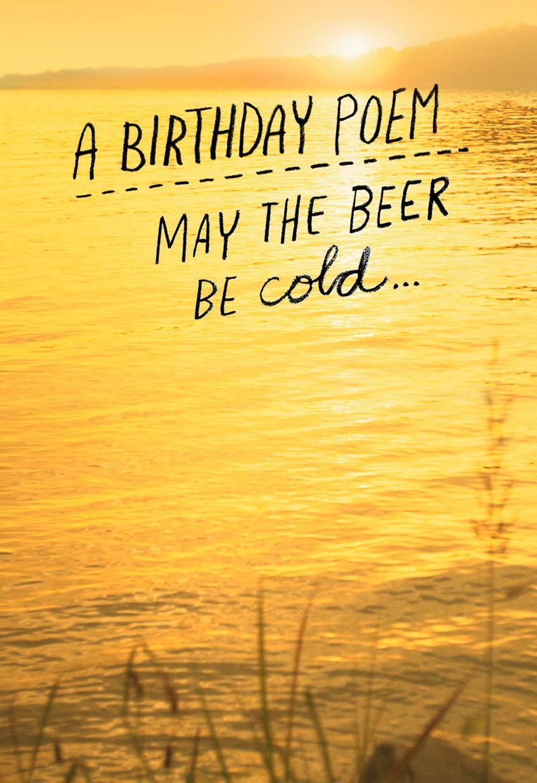 Beer Poem Funny Birthday Card