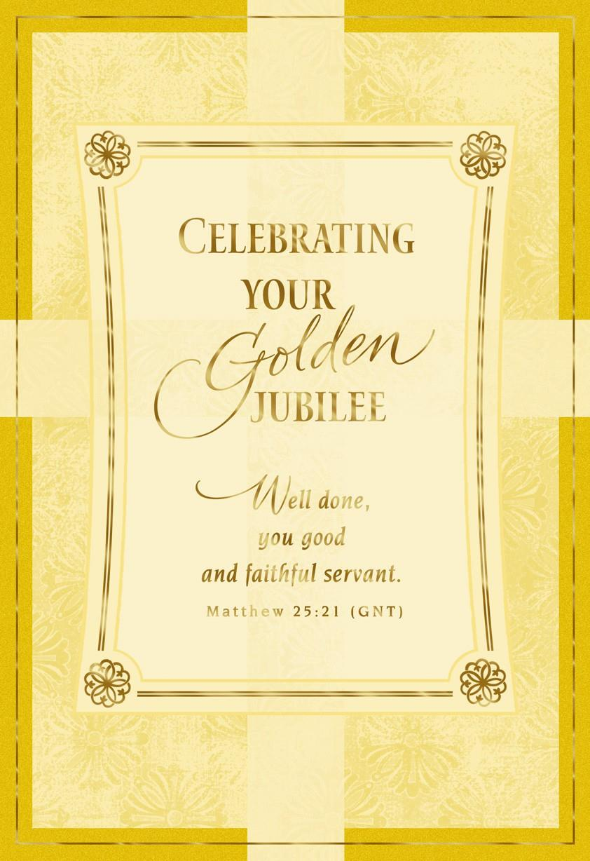Celebrating 50 Years Of Christian Service Card Greeting