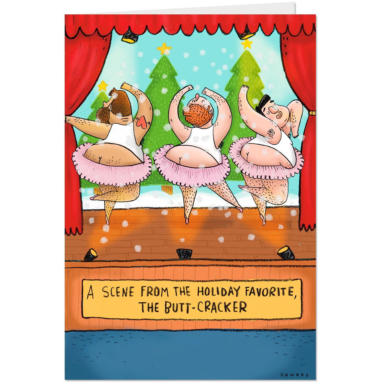 Tutu Funny Christmas Card