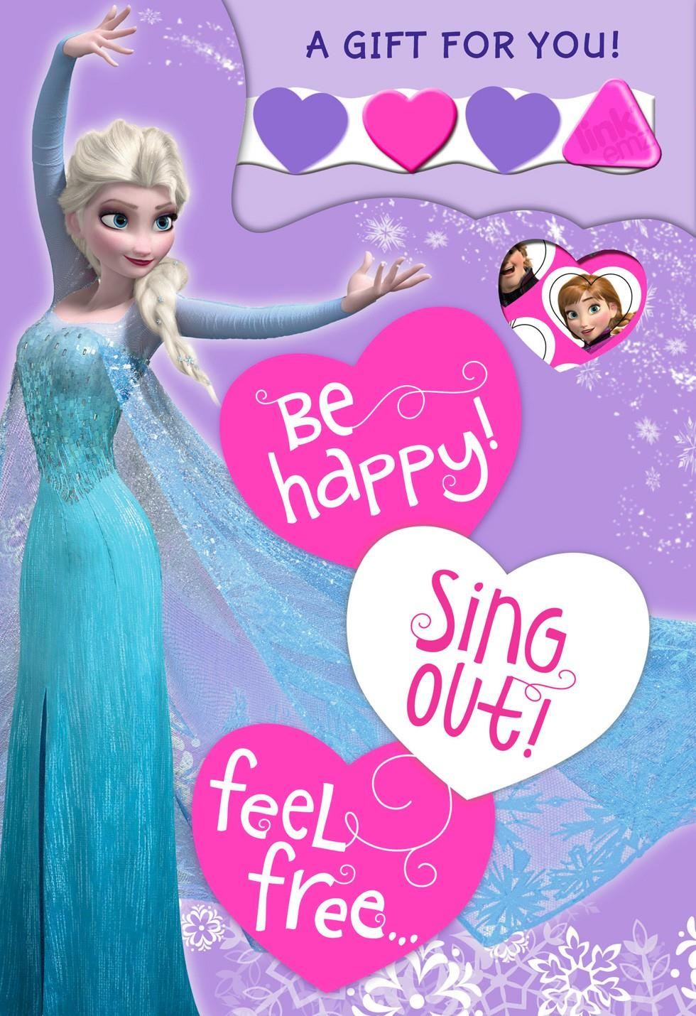 Disney Frozen Elsa Valentineu0027s Day Card With Linku0027emz Wristband