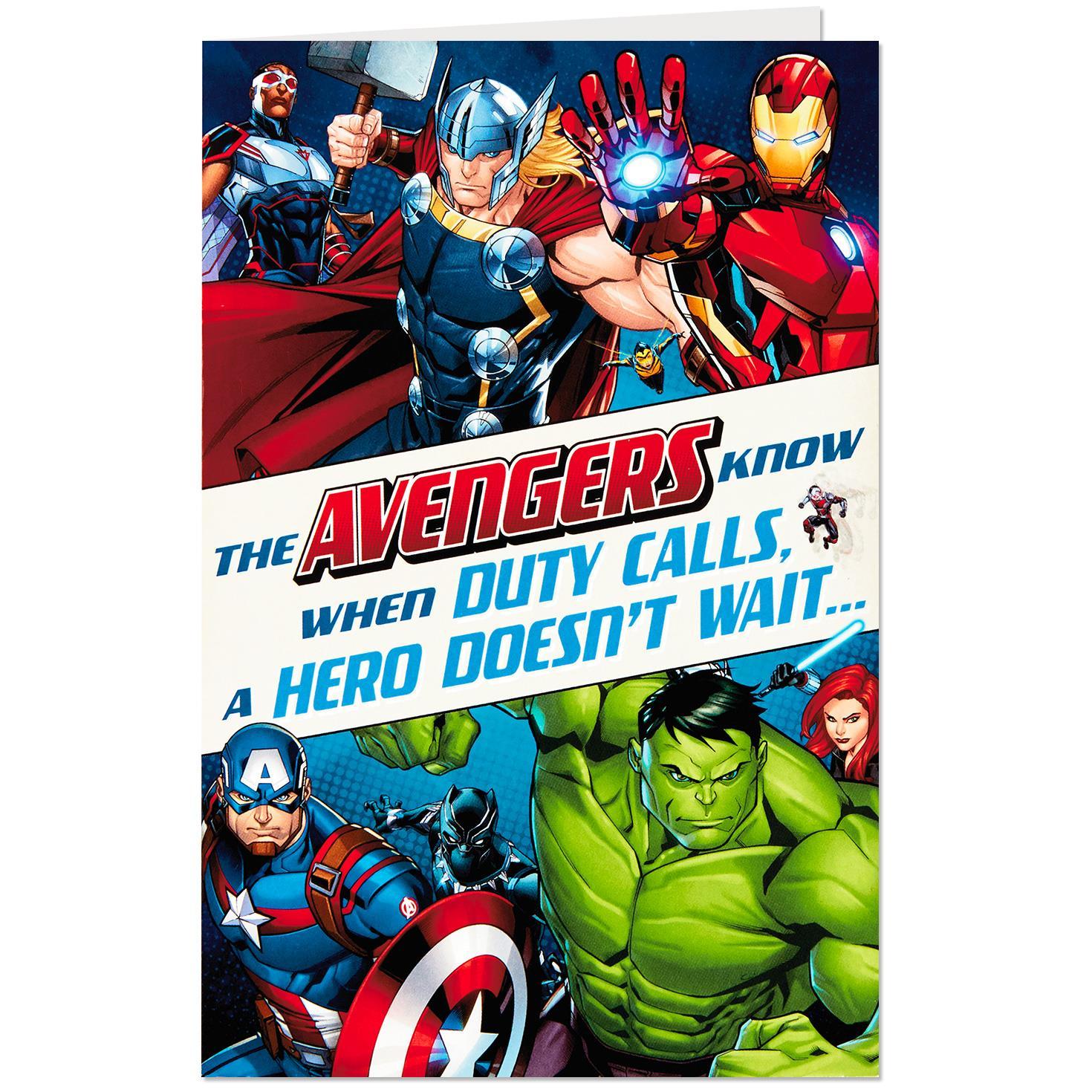 Marvel Avengers Make A Wish Displayable Musical Birthday