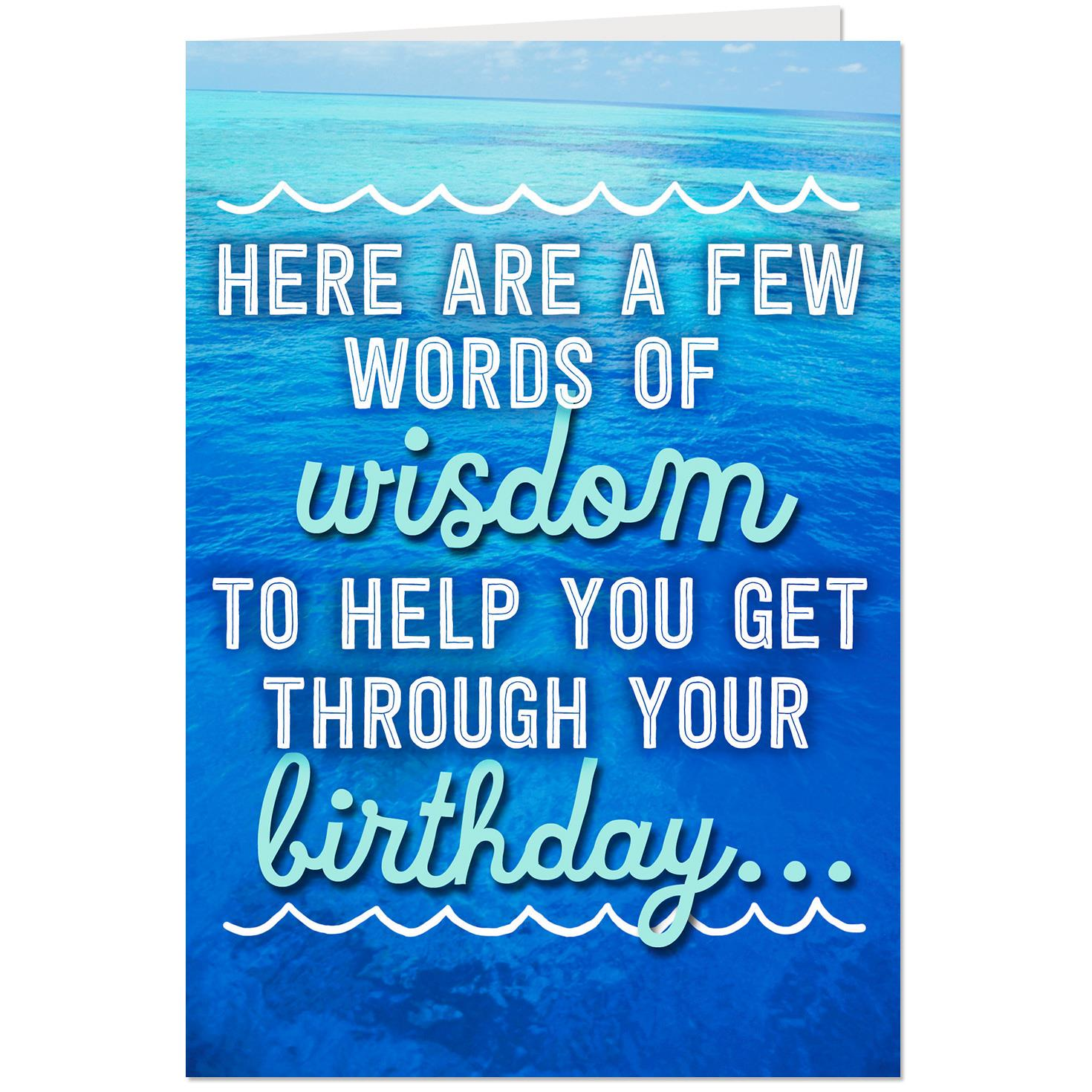 Wine Words of Wisdom Funny Pop Up Birthday Card - Greeting ...