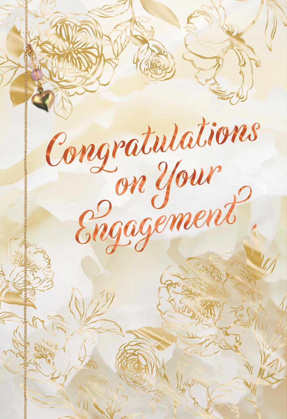All The Happiness Engagement Wedding Card Greeting Cards
