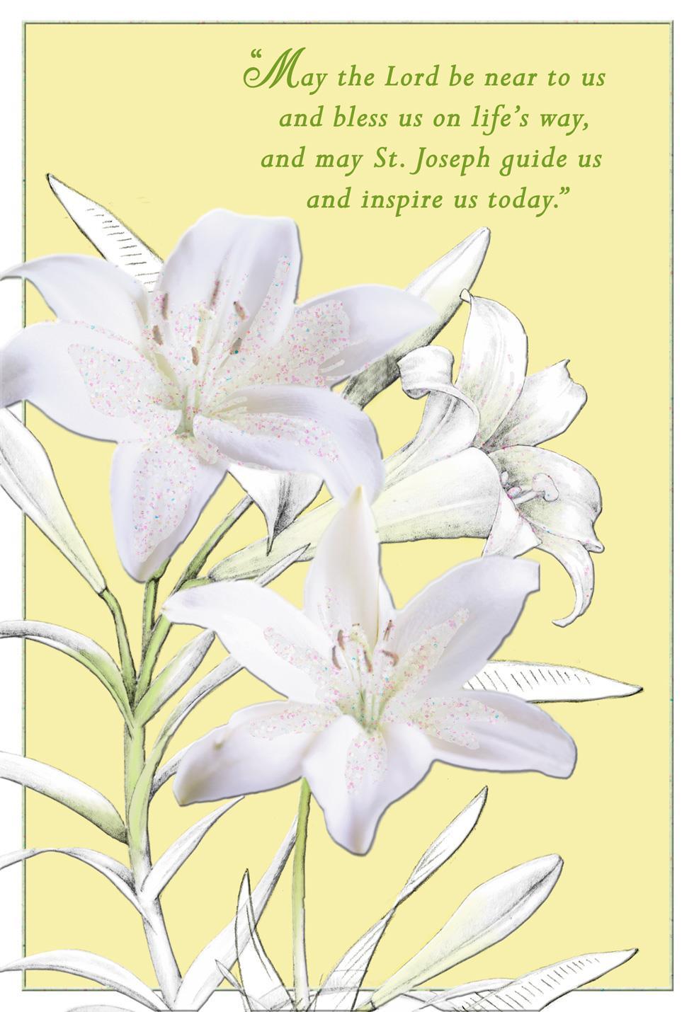 White lilies st josephs day prayer card greeting cards hallmark white lilies st josephs day prayer card m4hsunfo