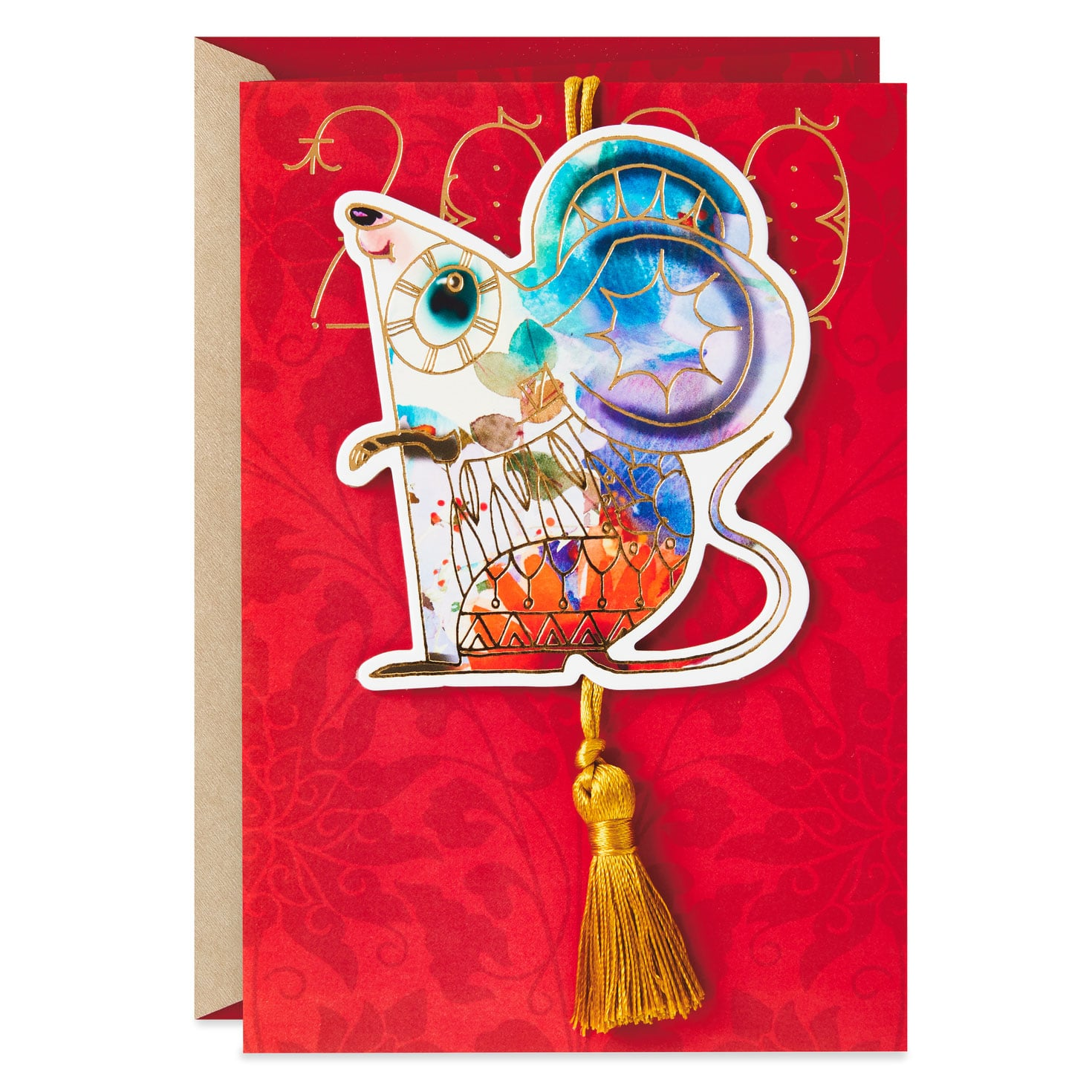 Year of the Rat 2020 Chinese New Year Card With Hangable ...