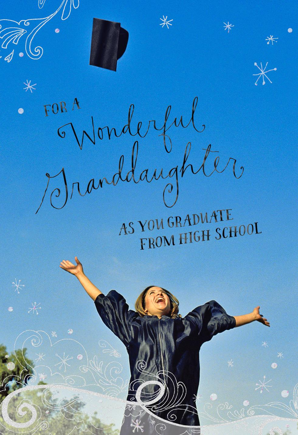 Full of Promise High School Graduation Card for Granddaughter